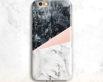 Marble iPhone 8 Case, iPhone 6S Case, White and Black Marble iPhone 7 Case, Marble iPhone X Case, iPhone 5S, Marble iPhone 6 Case, iPhone 7