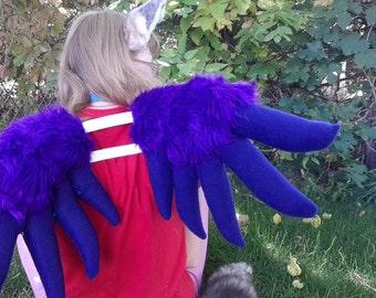 BIG cute furry fursuit wings