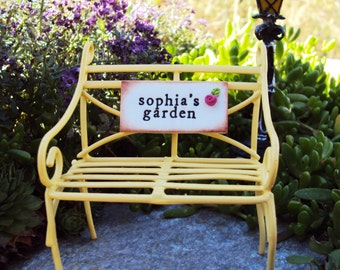 Fairy Garden Bench, Miniature Garden Bench, Fairy Chair, Personalized Miniature Bench, Terrarium, Fairy Garden, Faerie Garden, Chaise, Chair
