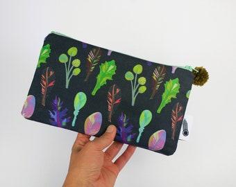 Spring Greens Zipper Bag
