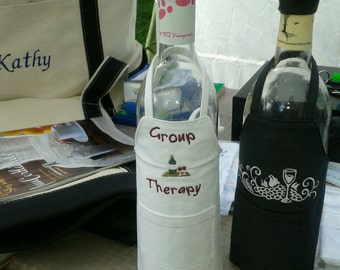 Wine Bottle Hat and Apron Group Therapy