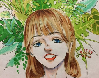 Personalised manga portrait || A5 || Made to order