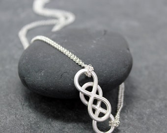 DOUBLE INFINITY Necklace for women
