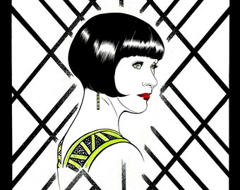 Miss Phryne Fisher Pen and Ink Portrait