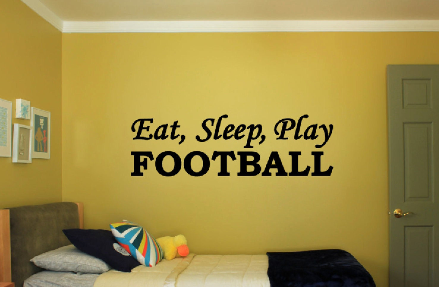 Eat, Sleep, Play Football - Vinyl Decal Vinyl Wall Art. Boys or ...
