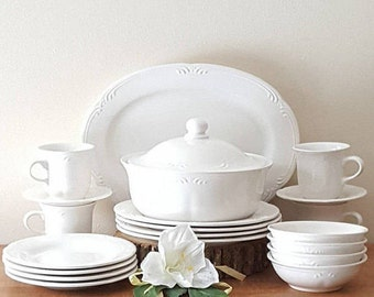 Pfaltzgraff Stratus Dinnerware 24 Pieces Set for 6: Made in