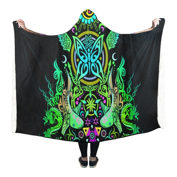Clothing Man Burning Festival Hooded Cloak Poncho Clothes Hippie Hooded Psychedelic Psytrance Cape Clothing Blanket Hooded EDM Clothing P1xwOvqF7