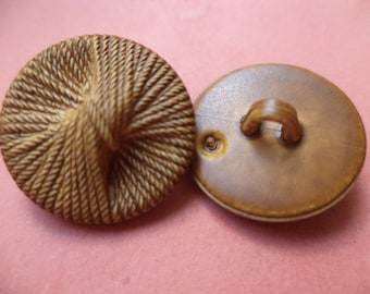 12 BUTTONS Brown 15mm 18mm (6456 3120) button