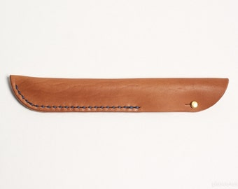 Apple Pencil Case in Tan Horween Leather // iPad Pro, Sleeve, Natural, Full Grain Leather