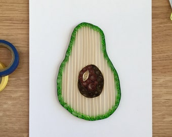 Quilling Paper Avocado Home Decor, Gift For Foodies, Good Gift For A Chef,