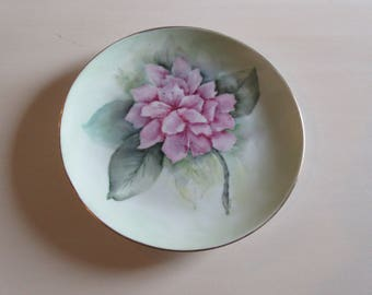HAND PAINTED PLATE Signed Aiton