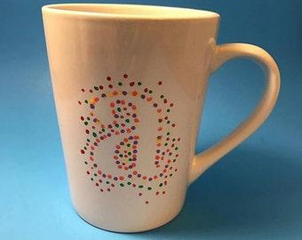 Monogram Rainbow Dot Mug