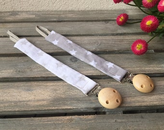 Pacifier clip, Handmade Pacifier Clip, Soother Clip, Fabric Pacifier Clip, Pacifier holder, Baby shower gift, Baby Accessories, Kanzashi