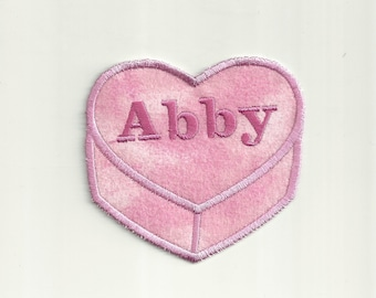 Your Name on a Conversation Heart, Any Color Patch! Custom Made! AP104