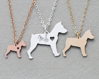 Miniature Pinscher Dog Jewelry • Engraved Pendant • Min Pin • Dog Breed • Sterling Silver Charm • Dog Loss • Pet Loss Rescue Dog