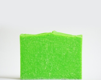 Lime Margarita Sea Salt Soap | Palm Free Soap, Vegan Homemade Soap, Handmade Cold Process Soap Bar, Handcrafted Spa Scented Soap, Soap Gift