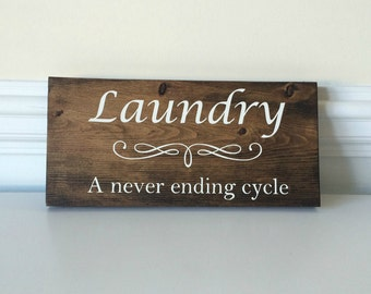Laundry Room Sign- Laundry Room Decor- Laundry Sign- Laundry Room- Laundry- Wood Signs-Gift for her- Gift for Wife- Gifts for Friends