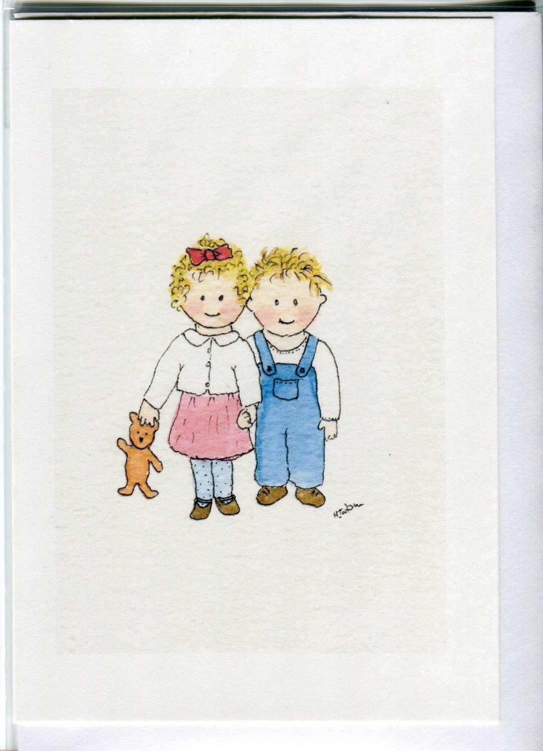 No 113 childrens card brother and sister card sibling card zoom kristyandbryce Gallery