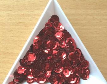 Glitter / metallic 6 mm red Bowl in bulk