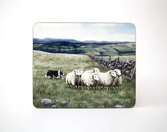 Sheep and Sheepdog Table Mat