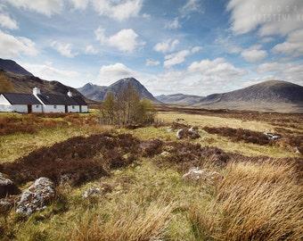 HIGHLANDS photography print, Glen Coe Scotland landscape, 8x12