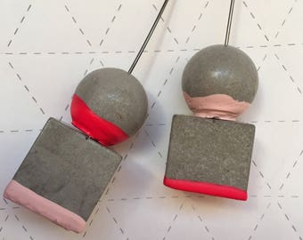 Cement Dipped Drop Earring