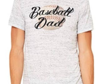 Baseball Dad Tee, White Marble
