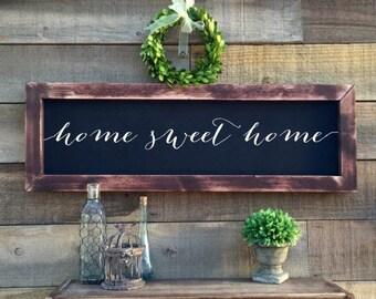 home sweet home chalkboard, rustic home decor
