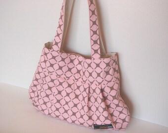 Pleated tote bag (Medium) - Pink / tucked bag