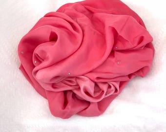 Large Pink Ombre Silk Sari Shawl