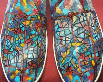 Handpainted Stained Glass TOMS