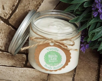 Vanilla body butter, bath and body, gift for her, whipped body butter, body lotion, skincare, moisturiser