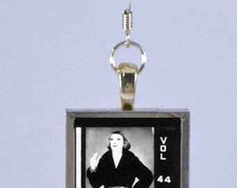 New Yorker Magazine Earring - Bette Davis