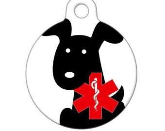 Medical Id Tag - Dog Medical Alert Pet Tag, ID Tag, Child ID Tag, Dog ID Tag
