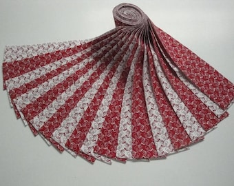 """Jelly Roll-""""Red & White"""" mixed prints by Choice Fabrics"""