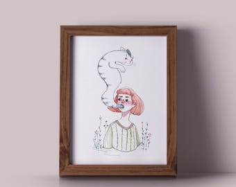 The ghost cat - print