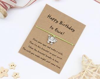 Birthday Wish Bracelet, Birthday Bracelet, Sheep Gift, Gift for a Birthday, Friendship Bracelet, Sheep Bracelet, Sheep Jewellery