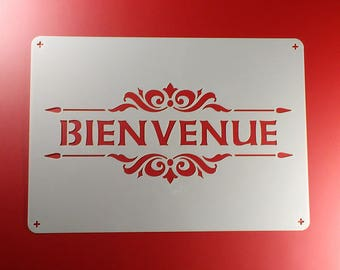 Template Bienvenue lettering Welcome-BO65