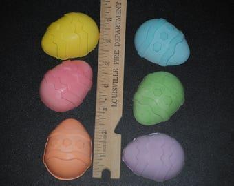 Easter Egg sidewalk chalk set of 6