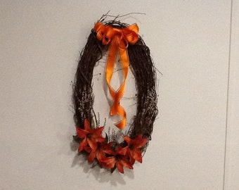 Grapevine wreath * Spring, summer or fall wreath * Brighten up your door or wall!