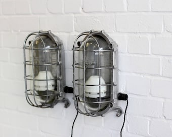 Large Industrial Explosion Proof Mine Lights Circa 1950s
