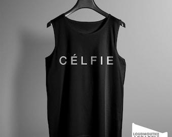 Celfie Mens Vest Tank Top selfie