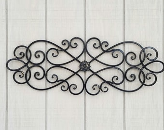Metal Wall Art, Black Home Decor, Black Metal Wall Decor, Black Metal Wall