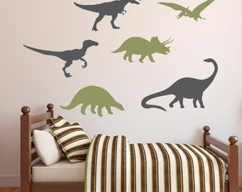 Dinosaurs Wall Decal - Boys Wall Decal - Kids Room Decor Wall Decal - Dinosaur Vinyl Wall Decal