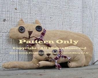 Primitive Cats Pattern, Primitive Animals, Cat Patterns, Primitive Cats, Animal Patterns, Primitive Dolls, Craft Patterns, E-Patterns