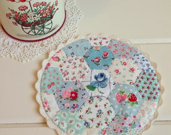a most lovely hexie patchwork doily