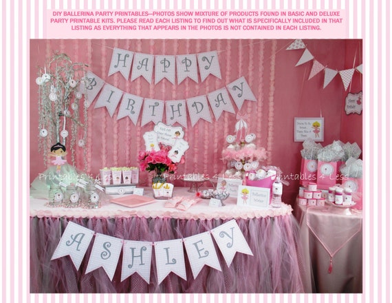 Ballerina Birthday Party DIY Ballet Party Decoration DIY