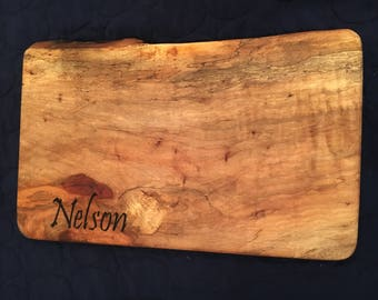 Family Name Engraved Cutting Board, Custom Hardwood Cutting Board, add family name, business logo, dates, reclaimed Texas Pecan or Mesquite