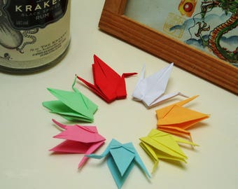 Pre-Made Senbazuru (1000 Origami Cranes) in 7 Striking Colours for Weddings/Gifts