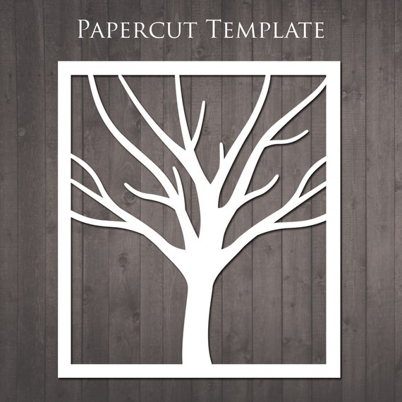 Tree Papercut Template diy paper cut